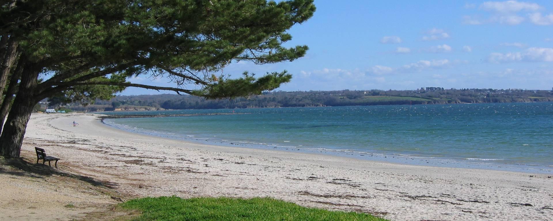 La plage du Cap Coz