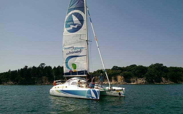 Programme Découverte des Glénan en catamaran habitable