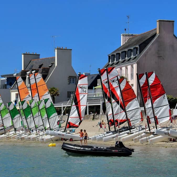 Départ des stages catamaran (crédit photo Thomas Guiard)